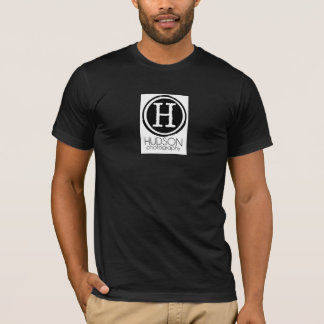 T-shirt Pièce en t de logo de photographie du Hudson