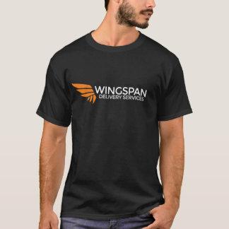 T-shirt Pièce en t de logo de services de distribution