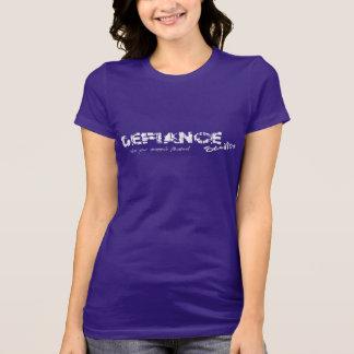T-shirt Pièce en t de logo de studios du défi des femmes -