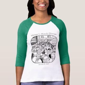 T-shirt Pièce en t de mars Chicago des femmes