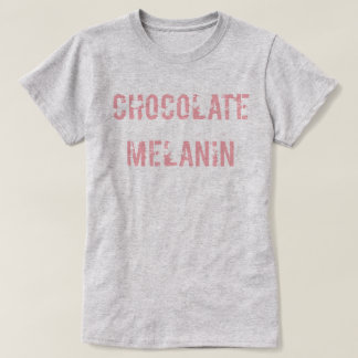 T-shirt Pièce en t de mélanine de chocolat