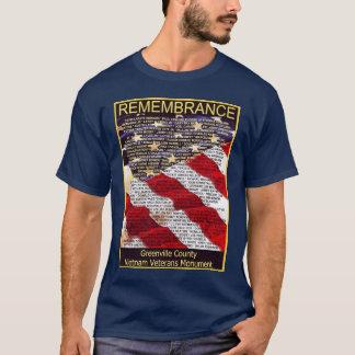 T-shirt Pièce en t de monument de vétérans du comté de