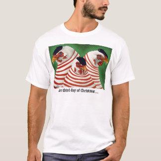 """T-shirt Pièce en t de Noël de Bullas """"le troisième jour du"""