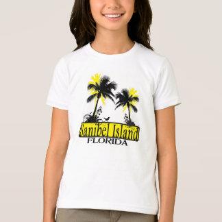T-shirt Pièce en t de palmier de filles de la Floride