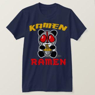 T-shirt Pièce en t de panda de Ramen de Kamen