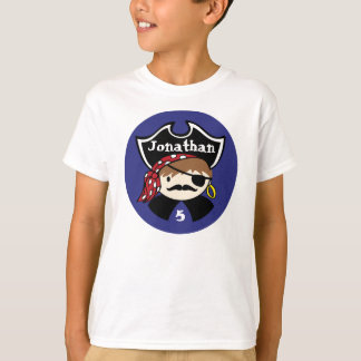 T-shirt Pièce en t de partie de pirate