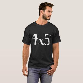 T-shirt pièce en t de photographie du grand format 4x5 -
