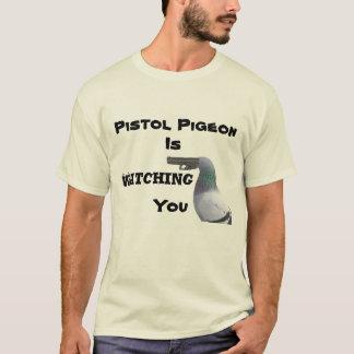 T-shirt Pièce en t de pigeon de pistolet