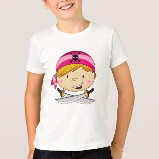 T-shirt Pièce en t de pirate de Bandana de fille