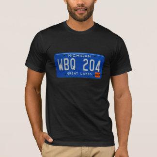 T-shirt Pièce en t de plaque minéralogique du Michigan