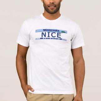 T-shirt Pièce en t de plaque minéralogique du Minnesota