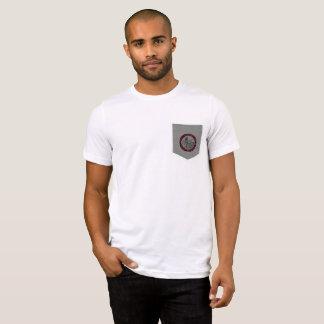 T-shirt Pièce en t de poche de logo de préparation