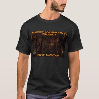 T-shirt Pièce en t de projet d'annihilation de forêt