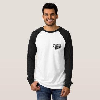 T-shirt Pièce en t de raglan de chien noir