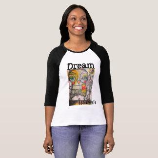 T-shirt Pièce en t de raglan de hibou