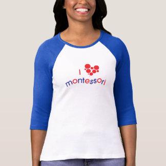 T-shirt Pièce en t de raglan d'esprit d'I <3 Montessori