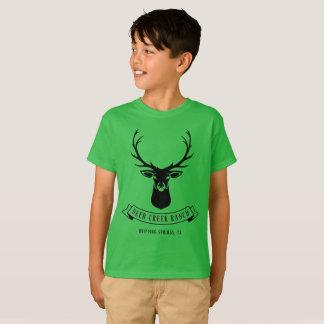 T-shirt Pièce en t de ranch de crique des cerfs communs de