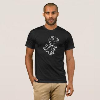 T-shirt Pièce en t de Rex d'arc-en-ciel