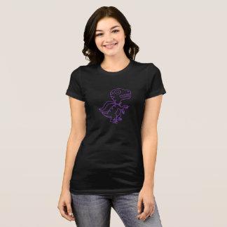 T-shirt Pièce en t de Rex d'arc-en-ciel : Pourpre