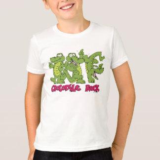 T-shirt Pièce en t de roche de crocodile