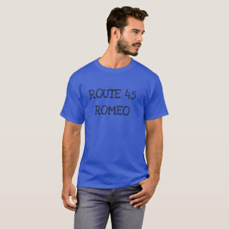 T-shirt Pièce en t de Romeo de l'itinéraire 45