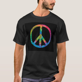 T-shirt Pièce en t de signe de paix de colorant de cravate