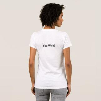 T-shirt Pièce en t de Snarky ! Gentil sur l'avant. De