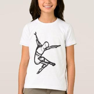 T-shirt Pièce en t de sonnerie de danse moderne (filles)