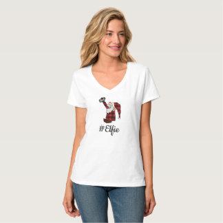 T-shirt Pièce en t de sourire de Smartphone de #Elfie