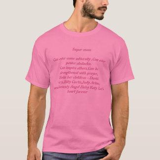 T-shirt pièce en t de supermom pour des mamans