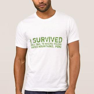 T-shirt Pièce en t de survivant de traînée d'Inca