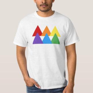T-shirt Pièce en t de triangle de gay pride