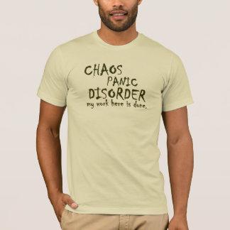 T-shirt Pièce en t de trouble panique de chaos
