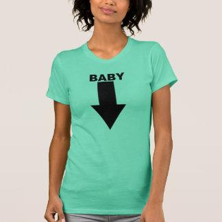 T-shirt Pièce en t de ventre de bébé