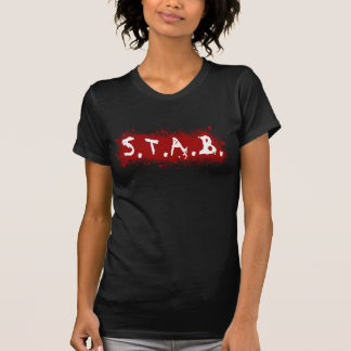 T-shirt Pièce en t d'éclaboussure de COUP de dames - noir