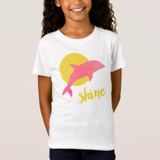 T-Shirt Pièce en t d'éclat/dauphin d'enfants