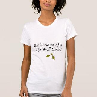 T-shirt Pièce en t décontractée de réflexions
