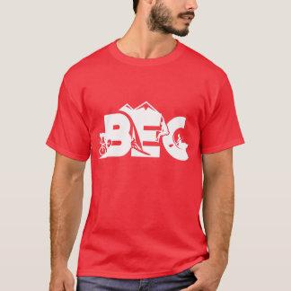 T-shirt Pièce en t décontractée unisexe de BEC - ROUGE