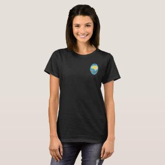 T-shirt Pièce en t d'encolure ras du cou de rose jaune