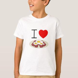 T-shirt Pièce en t d'enfants de Spam et d'oeufs du coeur I