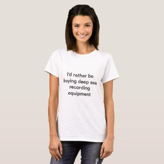 T-shirt Pièce en t d'enregistrement de mer profonde
