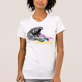 T-shirt Pièce en t détruite par dames de tigre de
