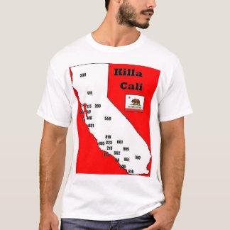 T-shirt Pièce en t d'indicatifs régionaux de la Californie