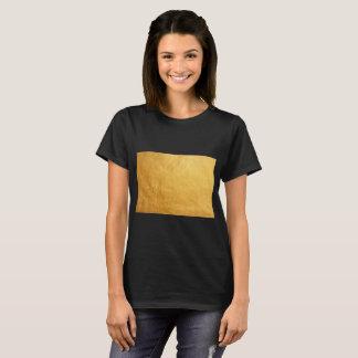 T-shirt pièce en t d'or