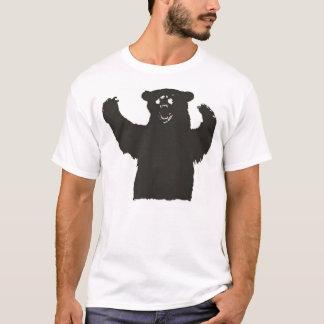 T-shirt Pièce en t d'ours noir