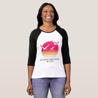 T-shirt Pièce en t du base-ball des femmes de plage de