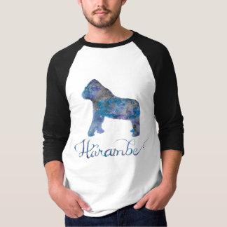 T-shirt Pièce en t du base-ball des hommes d'aquarelle de