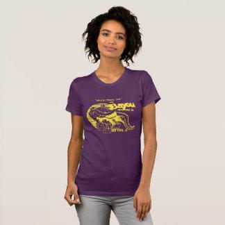 """T-shirt Pièce en t du bayou des femmes """""""" en pourpre et or"""