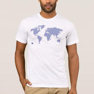 T-shirt Pièce en t du monde de rayure