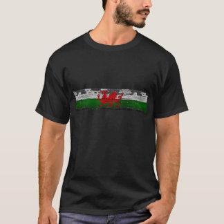 T-shirt Pièce en t du Pays de Galles affligée par cru